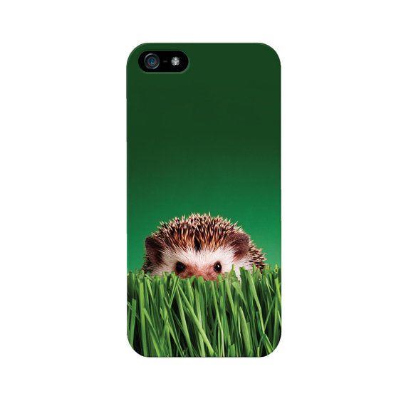 Weiße iPhone 4 / 4 s / 5 / 5 s wieder bei spähen Igel Gras Foto