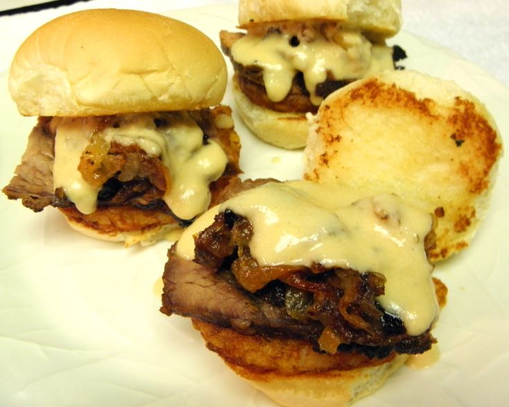SLIDERS | Tri-Tip Sliders with Garlic Provolone Sauce