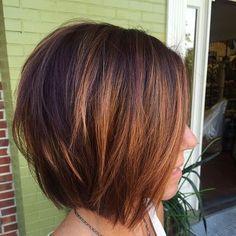 Copper balayage & razored bob | hair | Pinterest | Razored bob, Bobs and Copper