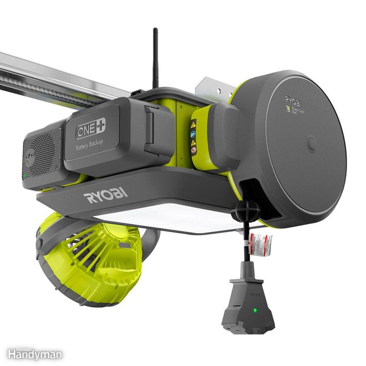 This game-changing garage hub is called the Ryobi GD200. It has a powerful 2-hp motor under the hood, instead of a 1/2-hp like most other openers. It features a super-quiet, steel-reinforced belt drive rather than a noisy chain or screw drive. It also has an LED light, which should last as long as the opener itself. The light is activated by a motion detector and turns on whenever you enter the garage. But what really sets this unit apart are the seven ports. Each port receives a module of…