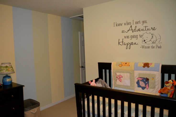Winnie the Pooh Baby Room, I really love the wall quote