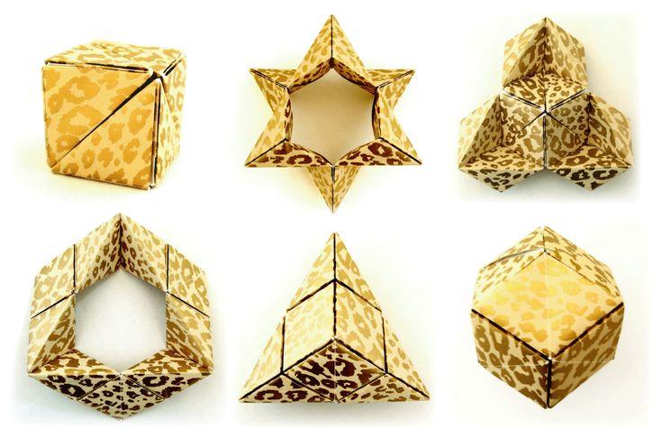 6つの形に変身するキューブ~大人も楽しめる折り紙のおもちゃ~
