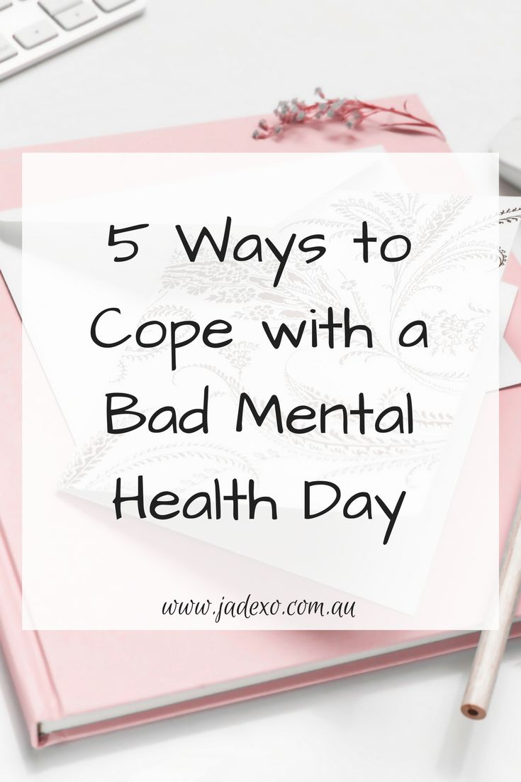 We all have bad mental health days. Unfortunately, they're way more common than people realise because not many people actually talk about the bad days they endure. It's kind of like social media, everyone showcases the good in their life, not the bad!