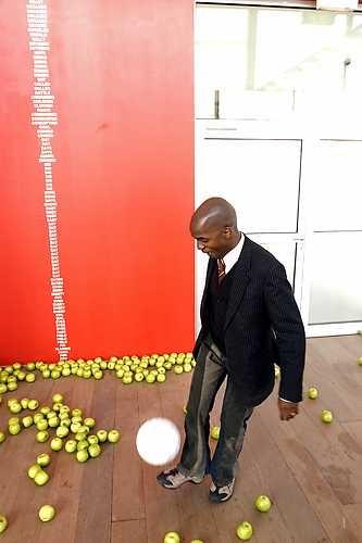 Samson Kambalu, (Bookworm) The Fall of Man. © Marco Sweering, Museum De Paviljoens