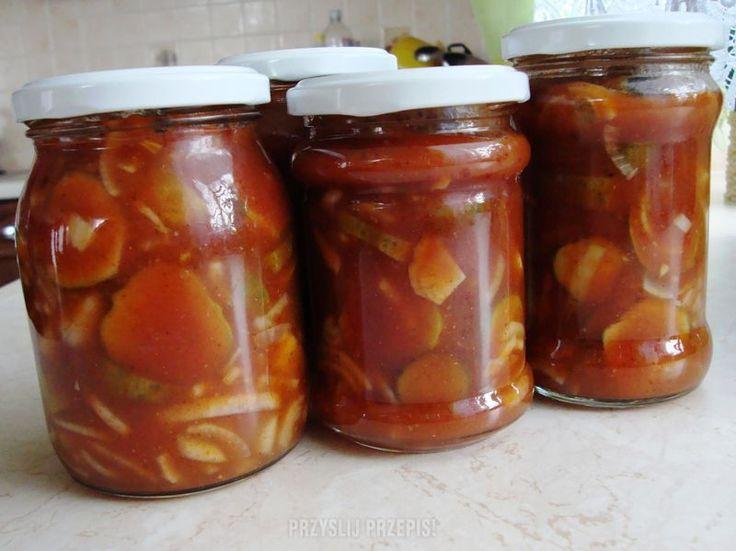 Ogórki w ketchupie
