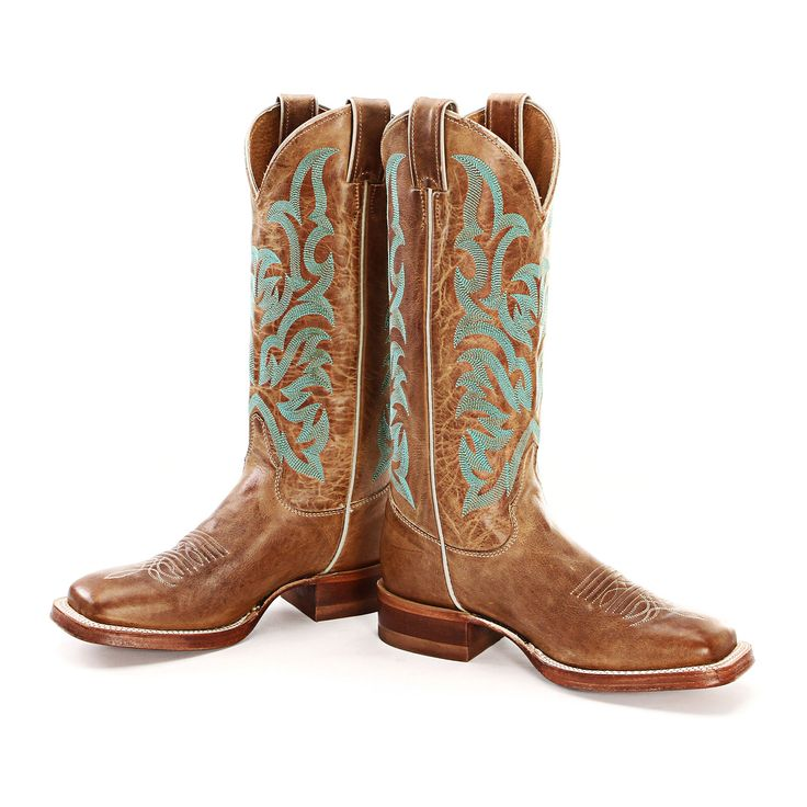BootDaddy Collection Justin Tan Cowgirl Boots |Square Toe Boots