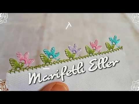 Bahar Çiçekleri İğne Oyası Modeli Yapılışı, Sesli Anlatım (HD) - YouTube