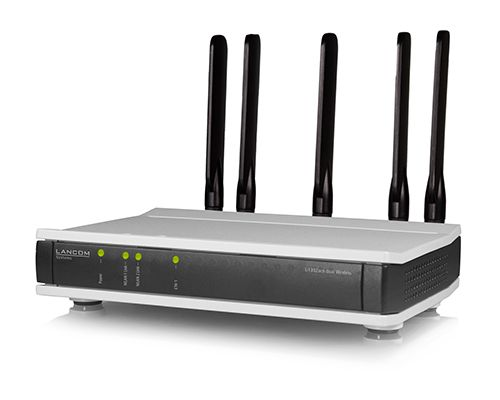 LANCOM Systems - L-1302acn WirelessWLAN AC - 3x3-MIMO, 80 MHz WLAN channels, and 256-QAM DFS channels of the 5 GHz frequency band, 2x RJ-45 (10/100/1000 MBit/s), VLAN, Multi-SSID, Q-in-Q Tagging, IGMP-Snooping