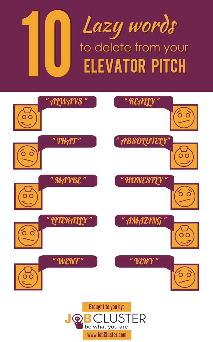 17 best images about job search personal branding 10 lazy words to delete from your elevator pitch