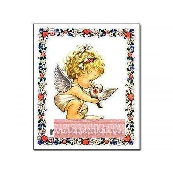 Папертоль «Ангел в рамке». Купить за 150 р. в магазине Разукрашка.