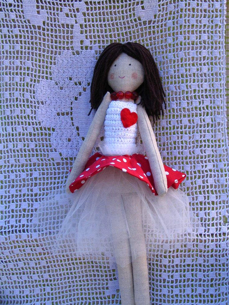 Handmade doll in tulle skirt  https://www.facebook.com/pages/ApaCukababa/151290661592836?fref=ts  www.apacukababa.hu