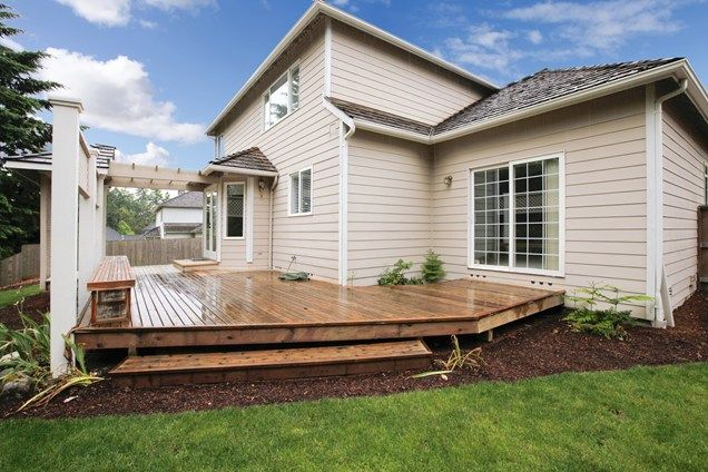 Low Deck Without Railings  Deck Design  Landscaping Network  Calimesa, CA