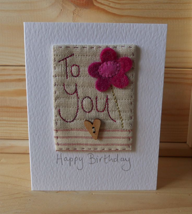 Hand Sewn Card by Lindsey Brandish on Etsy