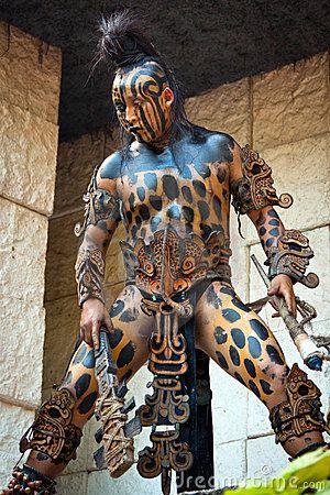 Warrior At Mayan Temple