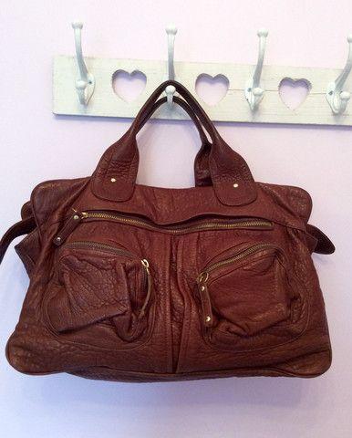 BULGA DE BEER BROWN LEATHER TOTE BAG - Whispers Dress Agency - Handbags - £200