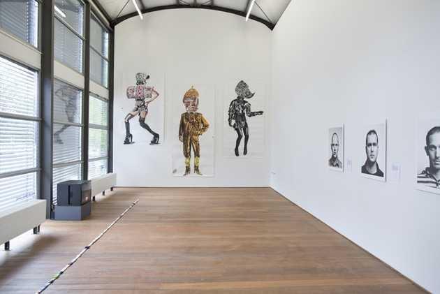 Charlotte Schleiffert, Friso Keuris, Amie Dicke en Johan van der Keuken. © Jordi Huisman, Museum De Paviljoens