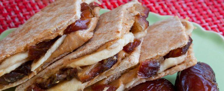 Peanut Butter, Banana and Medjool Date Pitas