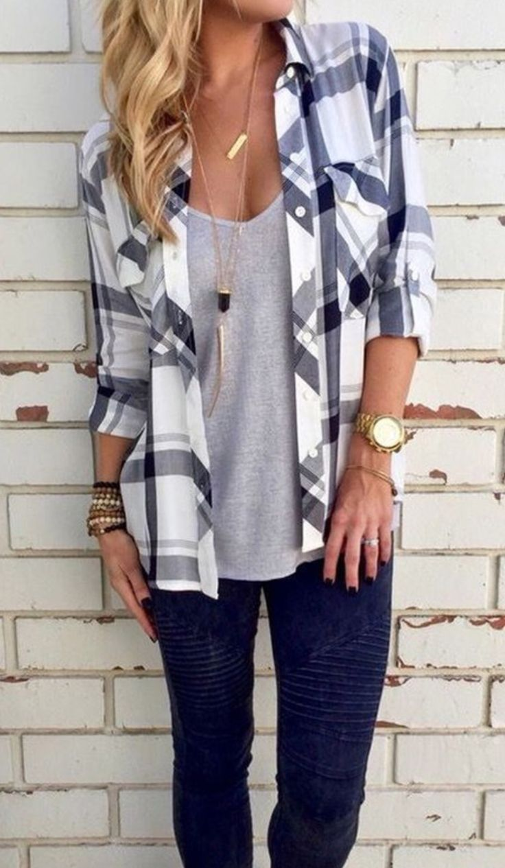 Flannel shirts and shorts   best CJus Fashion Picks images on Pinterest  Fall winter