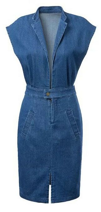 When elegant elements meets blue jean, it's perfect of dual play of classic and edgy. Try this blue denim dress from OASAP with amazing price and free shipping!