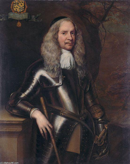 'Portrait Of Cornelis Van Aerssen' by Adriaen Hanneman (1603-1671, Netherlands)