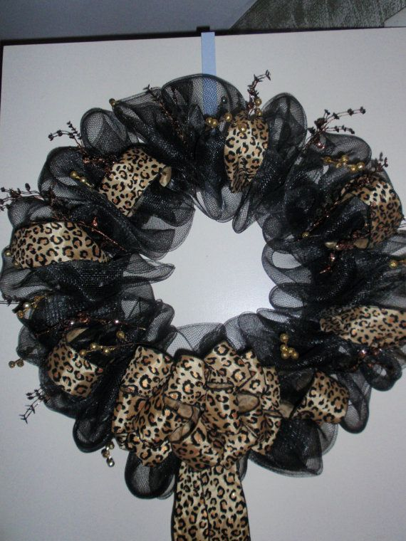 Leopard Mesh Wreath