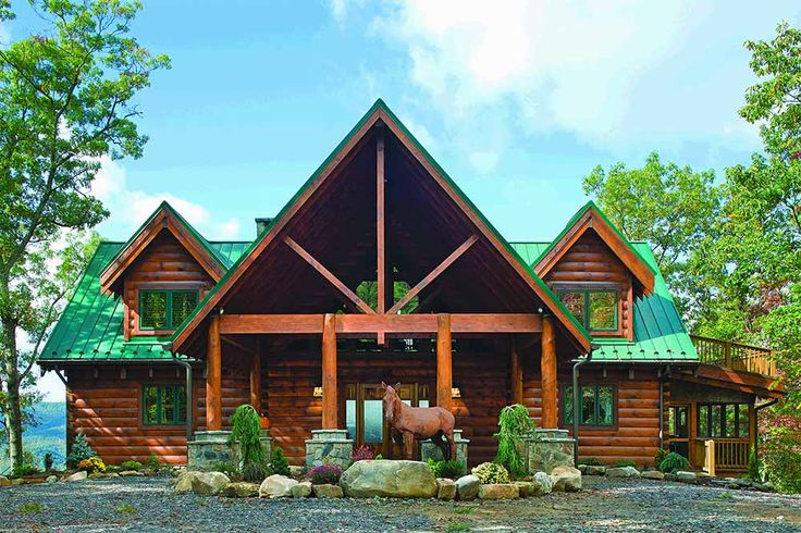 True bliss at north carolina log home an urban couple for North carolina mountain house plans