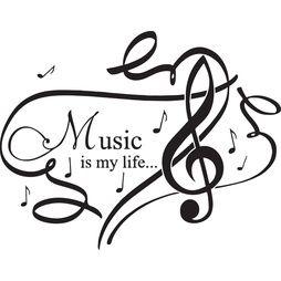 väggord/väggdekor music