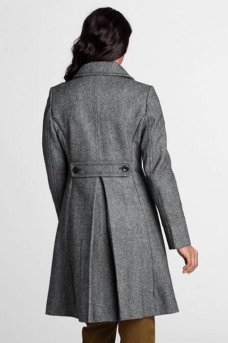 This swing-style fleece plus size jacket has a great roomy silhouette Begonia.K Women's Wool Trench Coat Lapel Wrap Swing Winter Long Overcoat Jacket by Begonia.K.