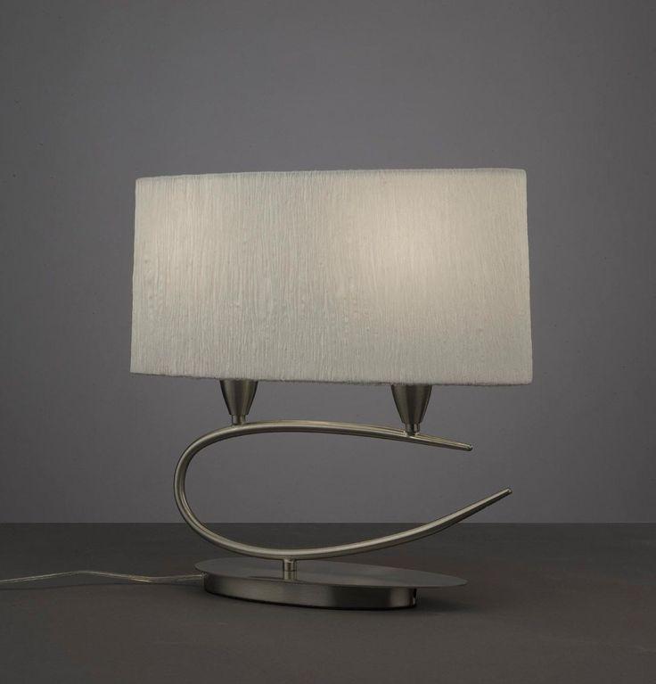 Sobremesa blanco níquel 2 luces LUA - La Casa de la Lámpara