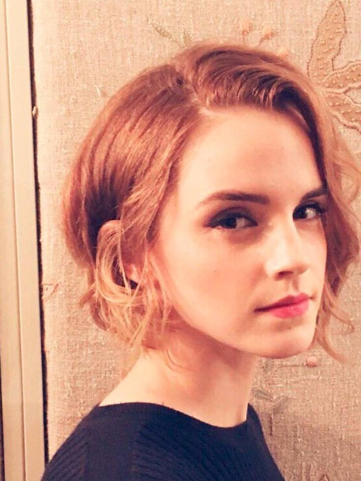 Emma Watson has never been one to shy away from a hair cut - famously chopping her long locks into a pixie crop back in 2011. Now she has opted for a slightly softer style, a layered asymmetrical bob with longer lengths framing her face.  Picture: Twitter/@lukejwindsor   - HarpersBAZAAR.co.uk