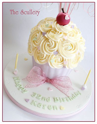 Giant Cupcake | Soft pastel colours | The Scullery (Louise) | Flickr