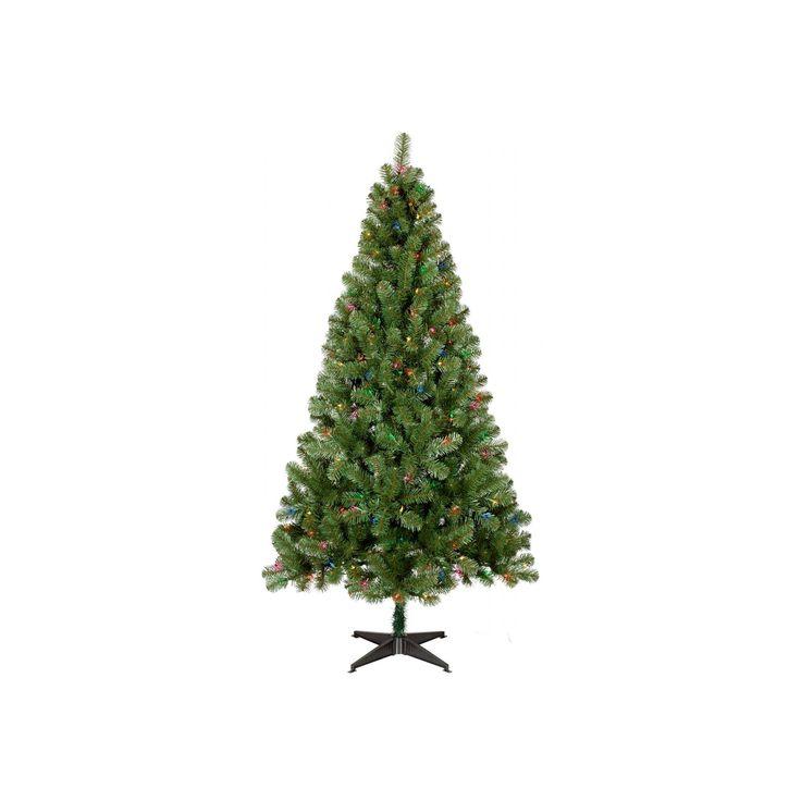 6ft Prelit Slim Artificial Christmas Tree Alberta Spruce Multicolored Lights - Wondershop, Green