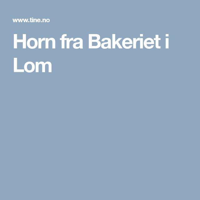 Horn fra Bakeriet i Lom