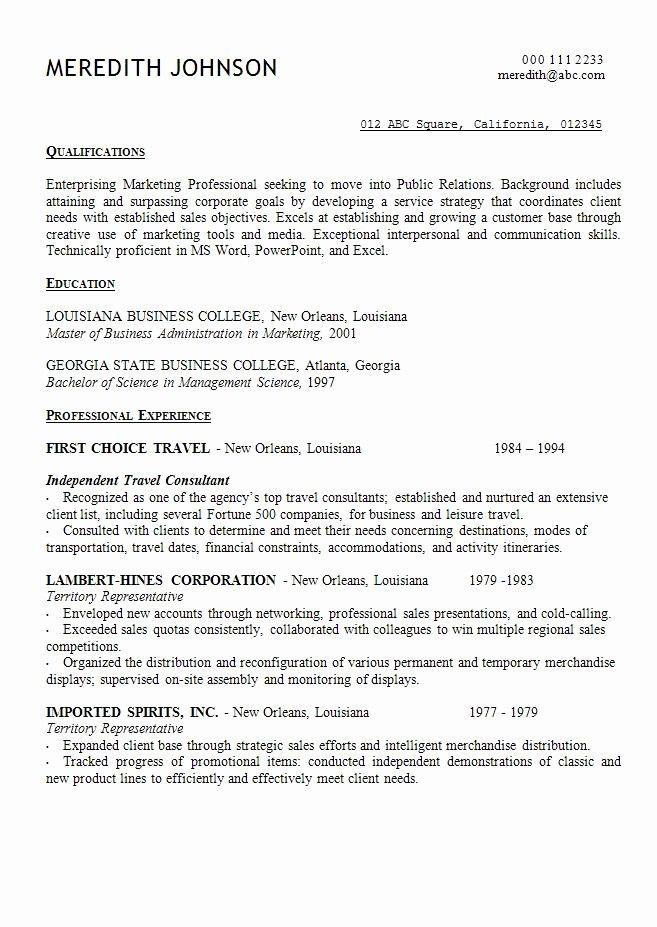 opening sentence for resume