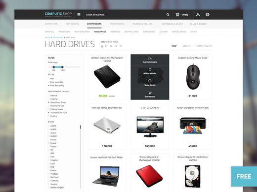 Computix Store - Free Eshop Template | TheFreebieBay.com