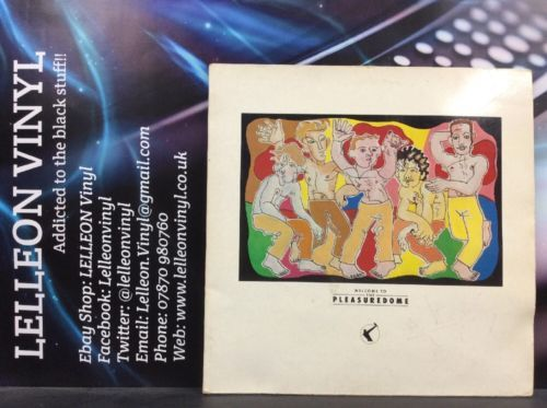 Frankie Goes To Hollywood Welcome To The Pleasure Dome Double LP Pop 80's ZTTIQ1 Music:Records:Albums/ LPs:Pop:1980s