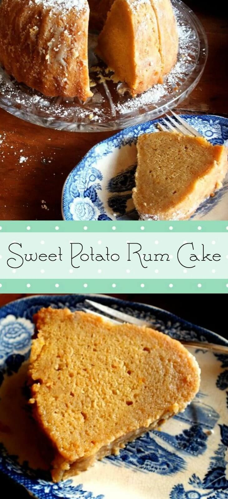 Heirloom Sweet Potato Rum Cake