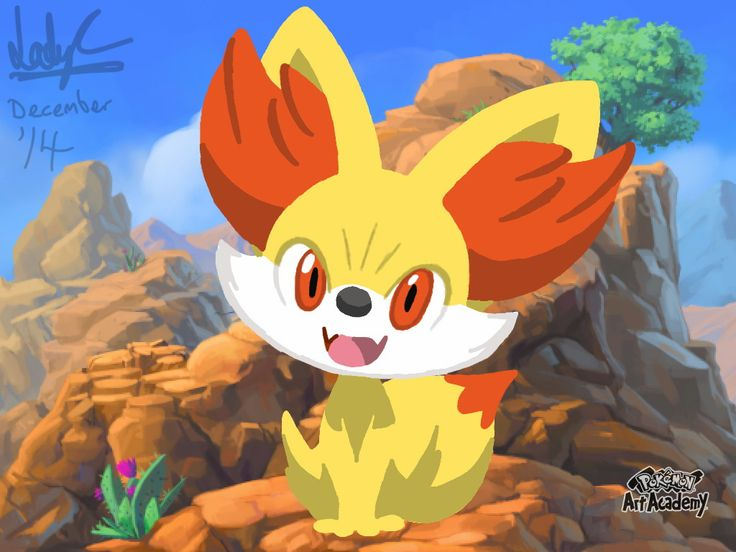 Pokemon Art Academy - Fennekin by LadyCharizard on DeviantArt