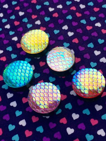Shiny Mermaid Scale Plugs- 20mm-25mm                                                                                                                                                                                 More