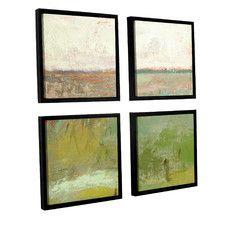 Landscape II 4 Piece Framed Painting Print Set