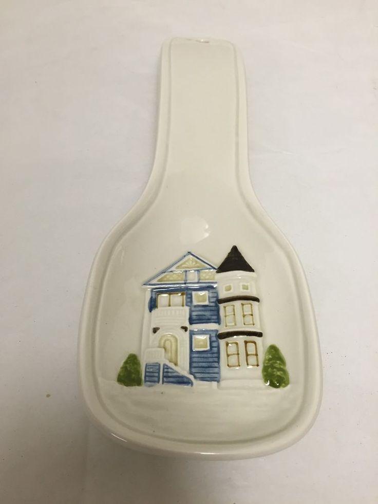 Otagiri Spoon Rest Victorian House Ceramic Japan Stove Top or Hang #Otagiri