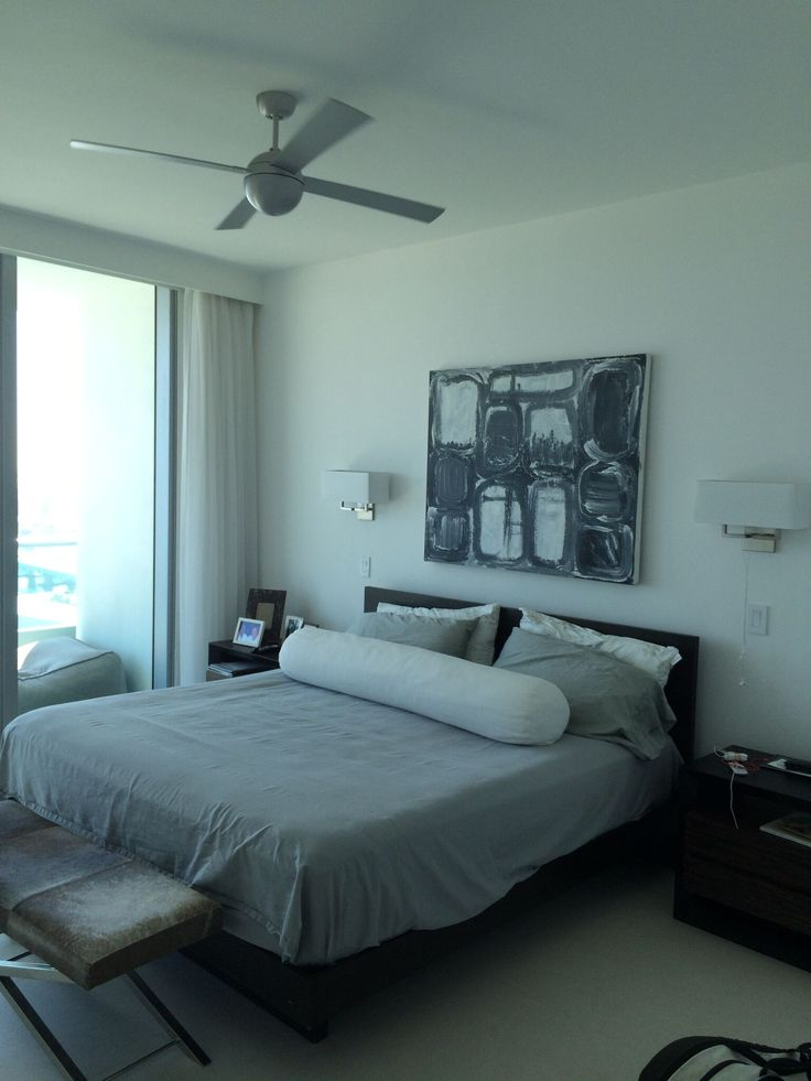 BEFORE Bedroom Kevin Gray Design Was Hired To Transform This Miami Duplex With Ocean Views