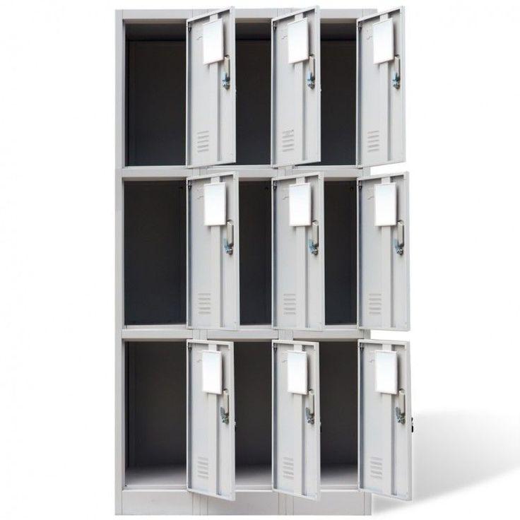 Locker Storage Cabinet Metal Office Unit Doors School Sports Changing Room Staff #LockerStorageCabinet #Industrial
