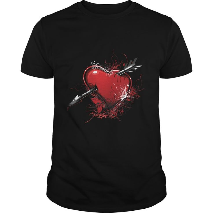 Floral heart with arrow