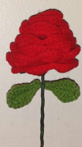 Free Crochet Long Stem Rose Pattern : 91 best images about Completed Projects on Pinterest ...