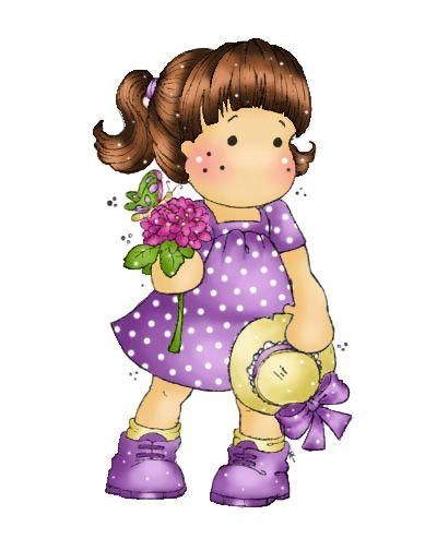 Menininha com Flores e Chapéu na Mão