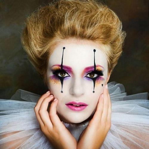 Trucco da pagliaccio: semplice o cattivo il make-up da clown