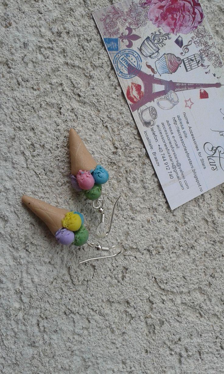 http://accessoriesforstars.blogspot.ro/ #pastelcolours #icecream #polymer #earrings #accessoriesforstars