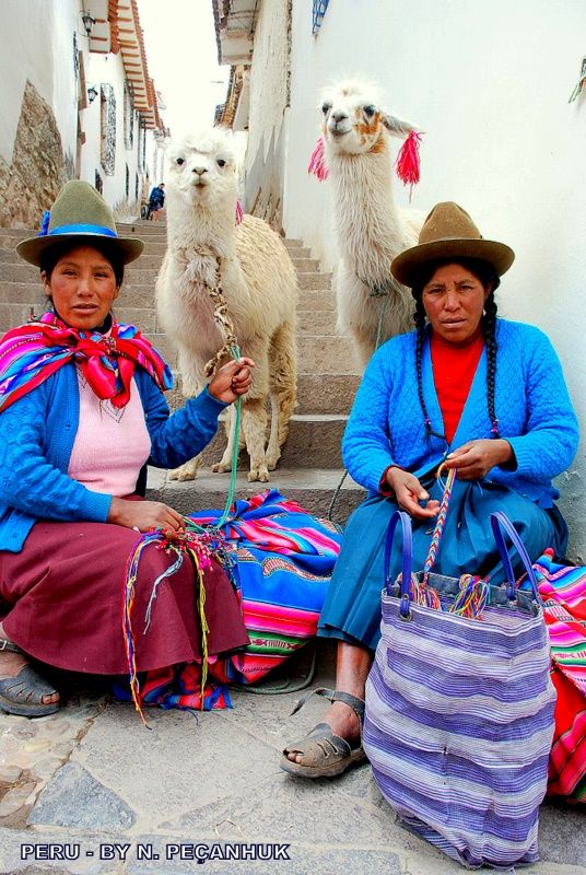 I mean this in all seriousness- no one rocks hats like the ladies of Cuzco, Peru.  Why didn't I buy one?!