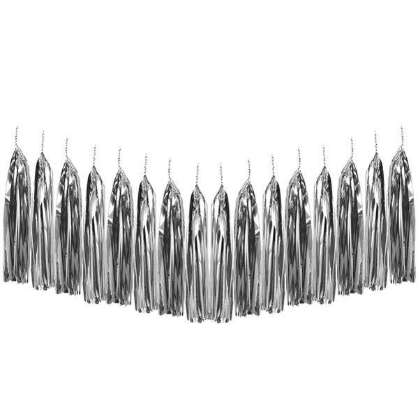 Metallic Silver Tassel Garland Decoration Kit